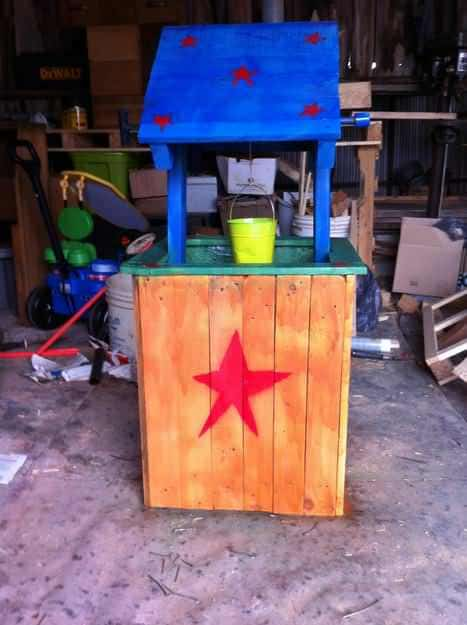 Pallet Wishing Well For Kids Fun Pallet Crafts for Kids