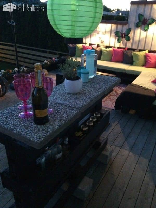 Pallets Outdoor Bar DIY Pallet Bars Lounges & Garden Sets