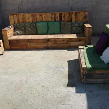 Pallets Seating Area