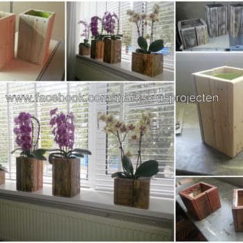 Small Pallet Planter Boxes