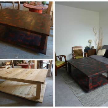 Table basse en bois de palette pallet coffee table 1001 pallets - Fabrication table basse palette ...