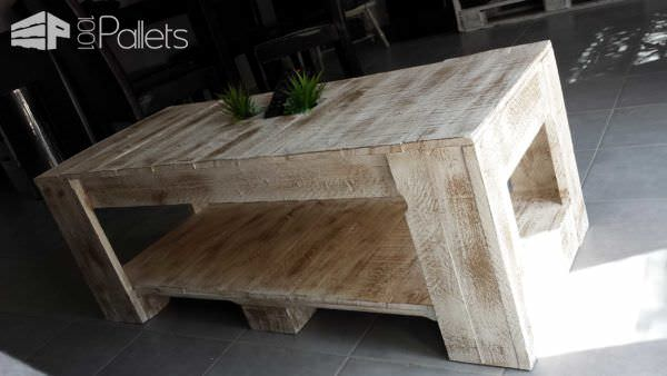 Table basse palettes pallet coffee table 1001 pallets for Table basse palette