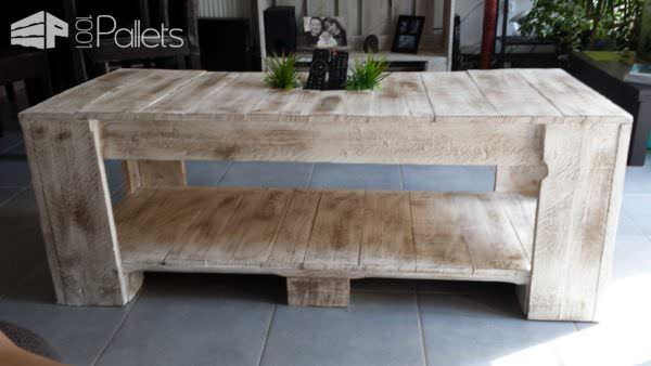 Table basse palettes pallet coffee table pallet ideas 1001 pallets La petite table basse en bois brut