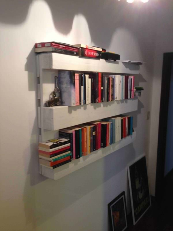 The Easiest Bookshelf: Made From One Single Pallet Pallet Bookcases & Pallet Bookshelves