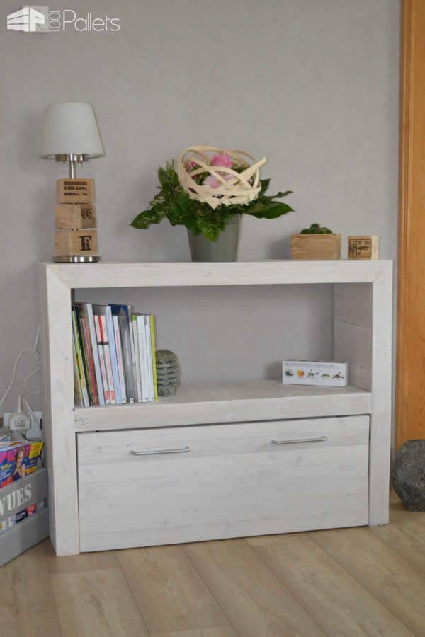 Upcycled Pallet Console Pallet Cabinets & Wardrobes