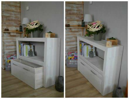 Upcycled Pallet Console