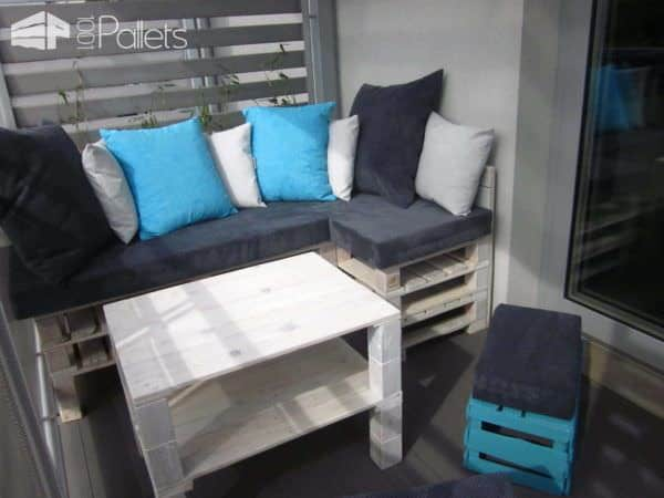 Upcycled Pallet Terrace Design Lounges & Garden SetsPallet Terraces & Pallet Patios