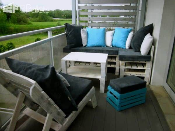 Upcycled Pallet Terrace Design Lounges & Garden Sets Pallet Terraces & Pallet Patios