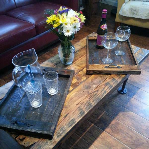 20140403 162913 1 600x600 Pallet furnitures and Fence in pallet home decor  with Table Reclaimed Pallets Furnitures Fence Coffee table Chair