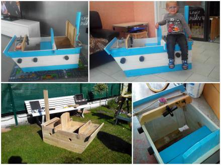 Bateau Pirate / Pirate ship made from pallets