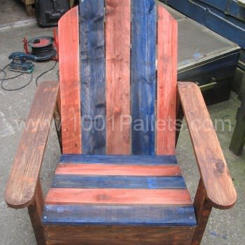 Adirondack Chair Made From Two Upcycled Pallets