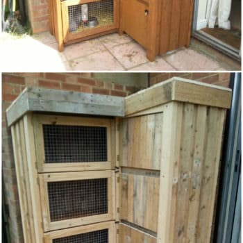 8ft Corner Rabbit Hutch