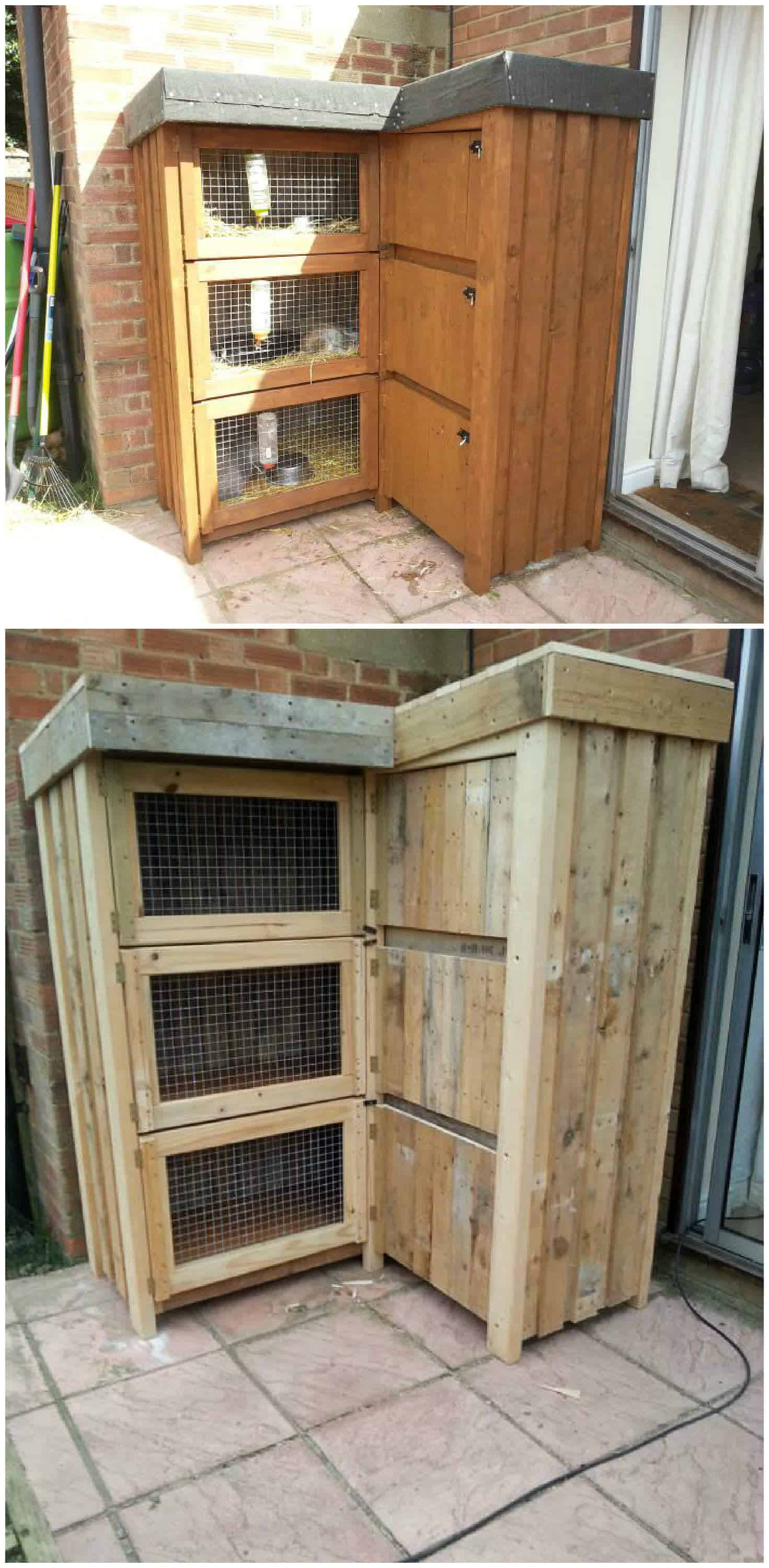 8ft Corner Rabbit Hutch 1001 Pallets