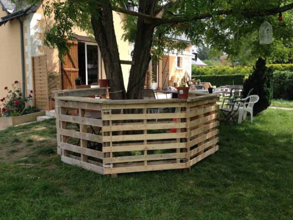 Bar Au Vert / Garden Pallets Bar DIY Pallet Bars