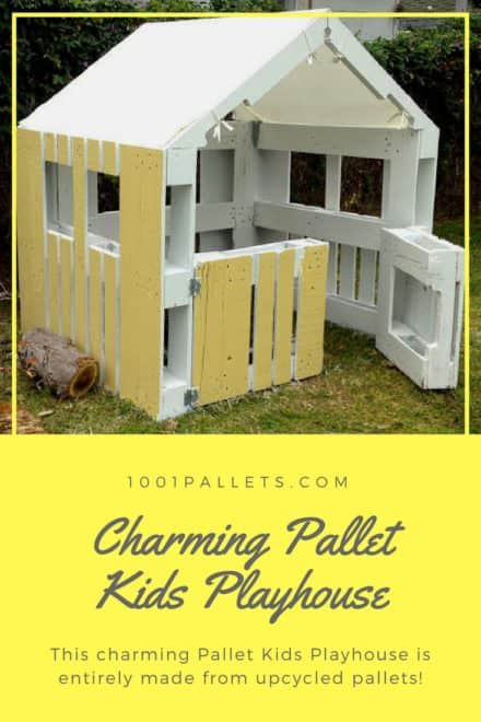 Charming, Inspired Pallet Kids Playhouse