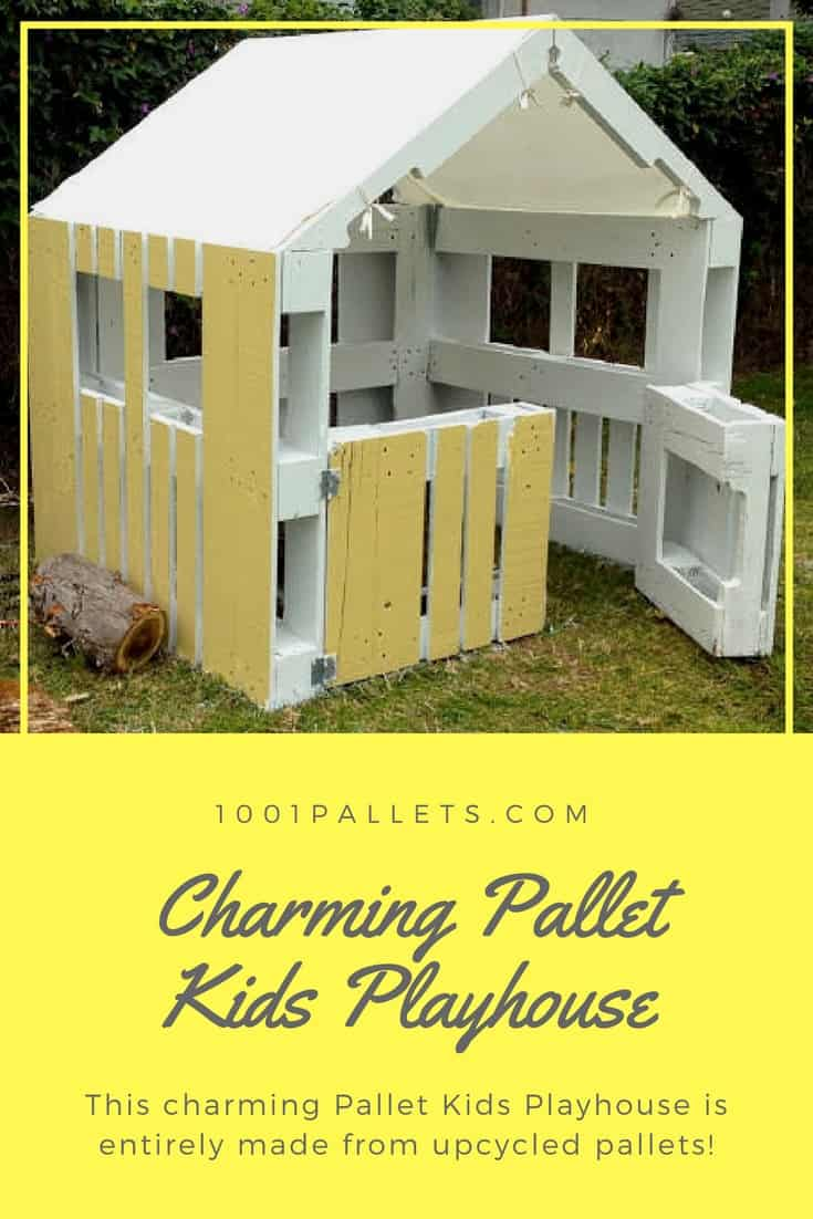 Charming Inspired Pallet Kids Playhouse 1001 Pallets
