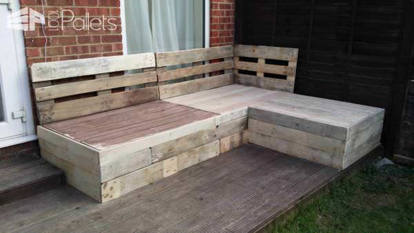 Corner Sofa Made From Repurposed Euro Pallets Pallet Sofas & Couches