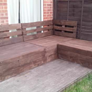 Corner Sofa Made From Repurposed Euro Pallets