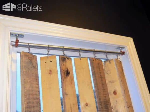 Diy Pallet Wood Vertical Blinds Pallet Wall Decor & Pallet Painting