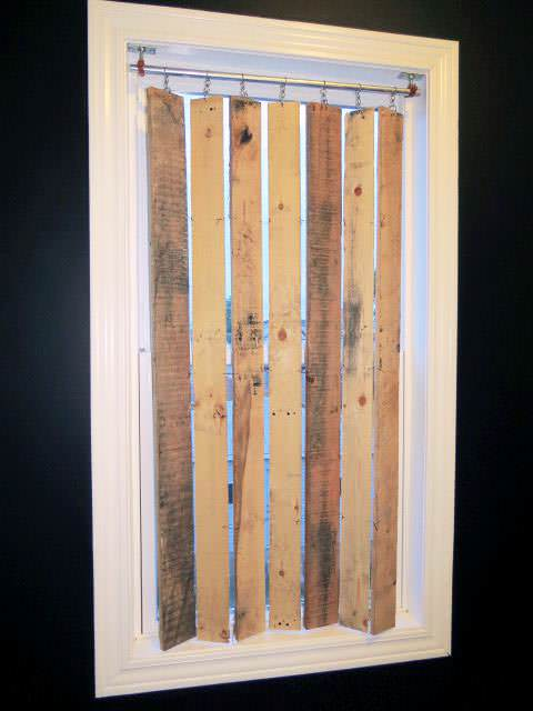 Diy Pallet Wood Vertical Blinds 1001 Pallets