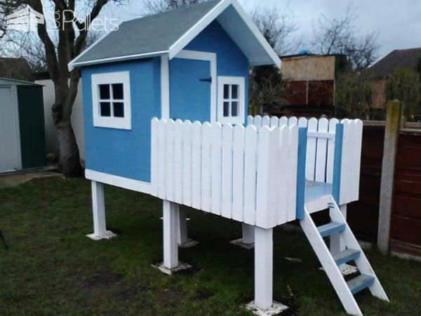 Diy Video: Child's Wendy Playhouse Fun Pallet Crafts for Kids Pallet Sheds, Pallet Cabins, Pallet Huts & Pallet Playhouses