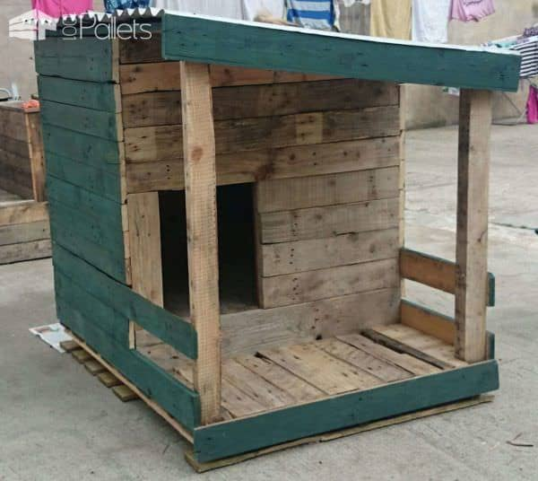 Pallet dog house build your own 1001 pallets - How to build a dog house with pallets ...