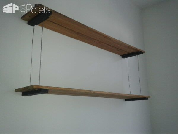Tag Re Suspension Filaire En Palette Suspended Pallet Shelves 1001 Pallets