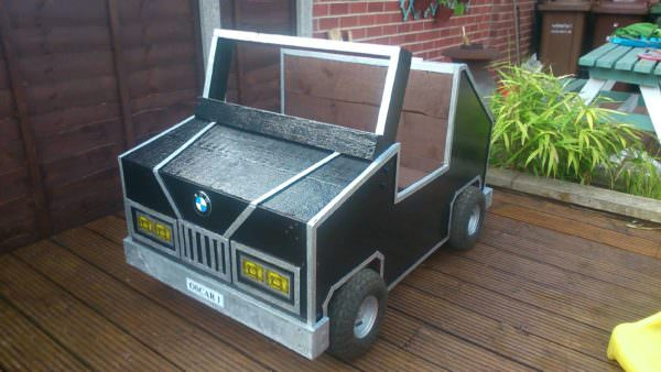 Garden Car Toy Box Fun Pallet Crafts for Kids Pallet Boxes & Chests