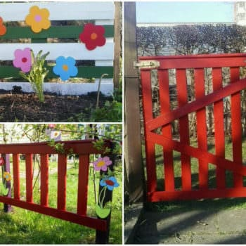 Garden Fences Made from Repurposed Pallets