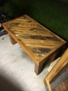 Lighted Patio Table Made Out Of Wooden Pallets Pallet Coffee Tables Pallet Lamps & Lights