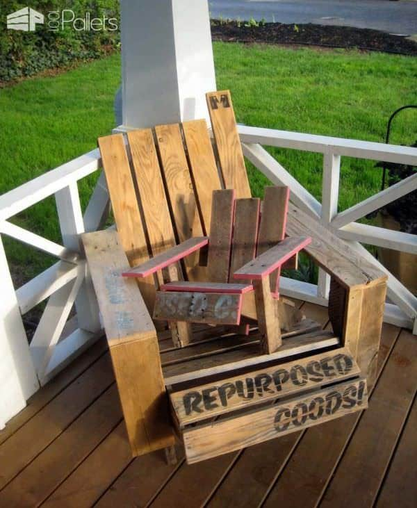 Mini Pallet Adirondack Chair (Diy Guide) Pallet Benches, Pallet Chairs & Pallet Stools