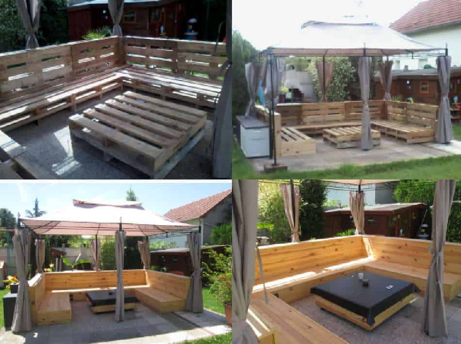 Mon salon de jardin my pallet garden set 1001 pallets for Palet jardin salon mesa