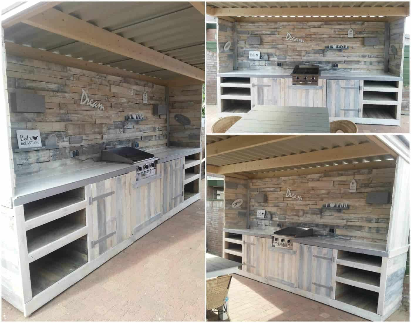 Must see pallet outdoor dream kitchen pallet ideas for Meuble patio palette
