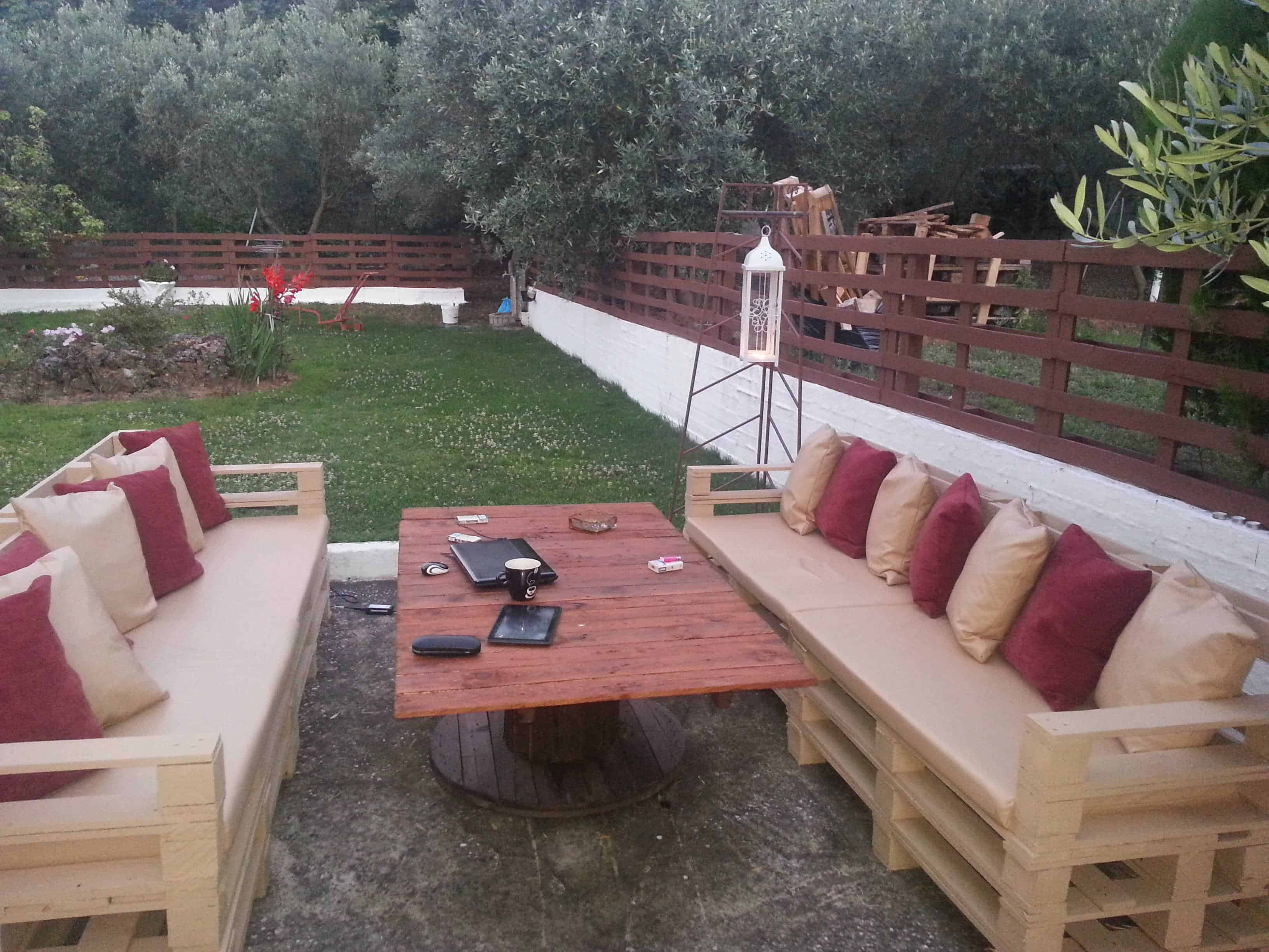 Outdoor Pallets Lounge 1001 Pallets