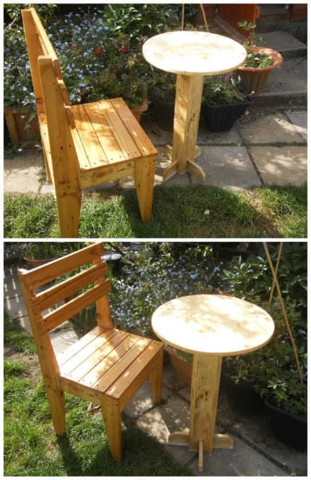 Pallet Bistro Table & Chair