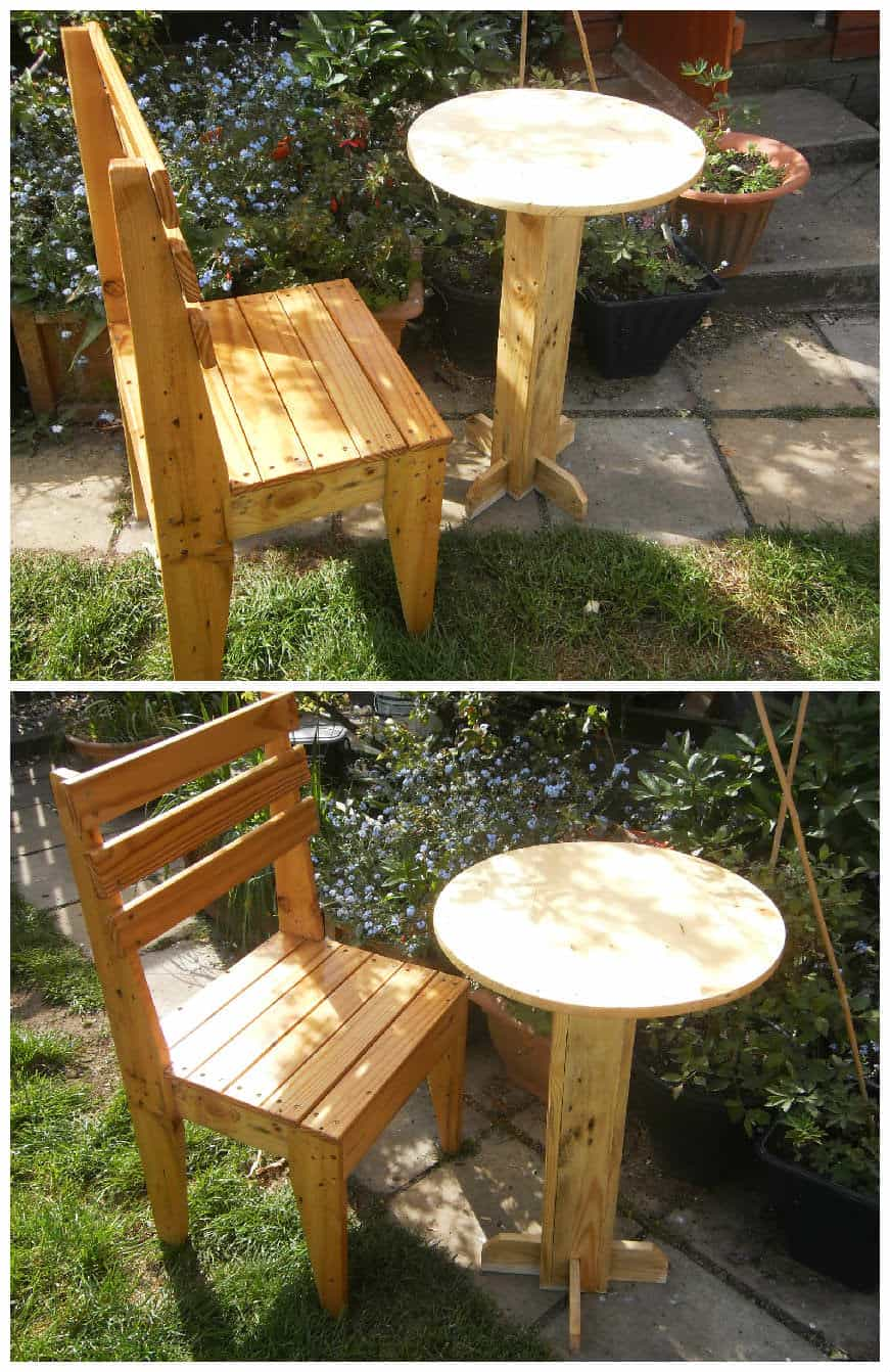 Pallet Bistro Table Amp Chair 1001 Pallets