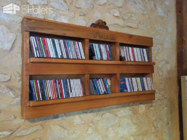 Pallet Cd Shelf Pallet Shelves & Pallet Coat Hangers