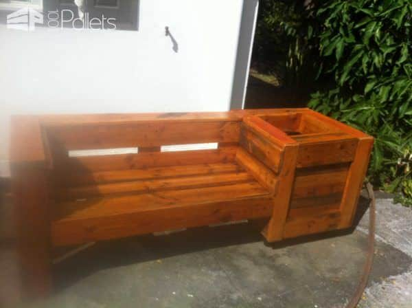 Pallet Combo: Garden Bench & Planter Pallet Benches, Pallet Chairs & Pallet Stools Pallet Planters & Pallet Compost