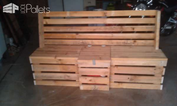 Pallet Outdoor Bench Pallet Benches, Pallet Chairs & StoolsPallet Boxes & Chests