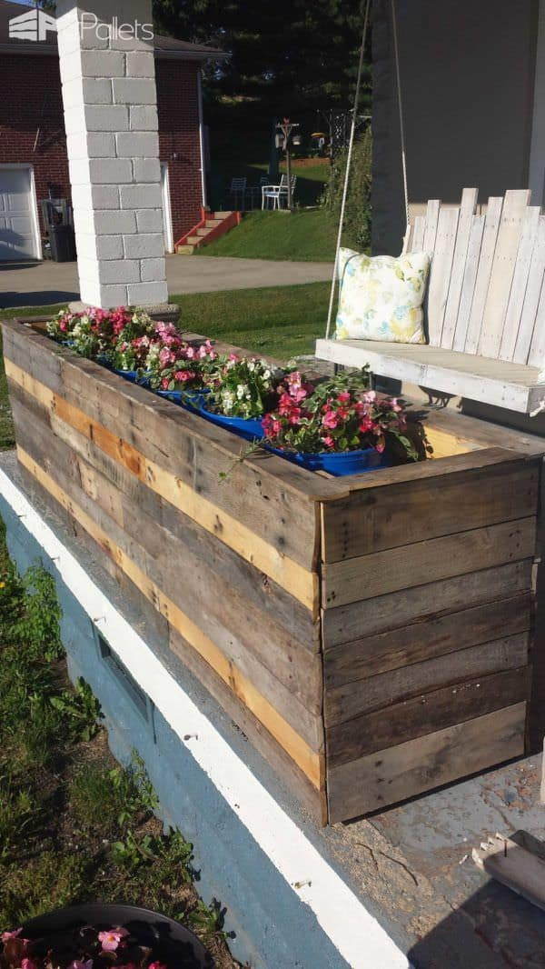Pallet planter boxes 1001 pallets for Making planters from pallets