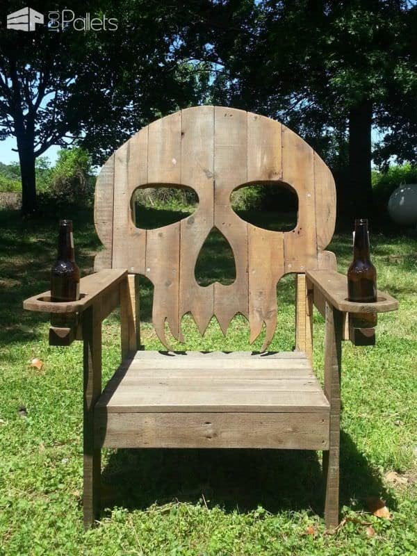 Wood Skull Lawn Chairs ~ Pallet skull chair pallets