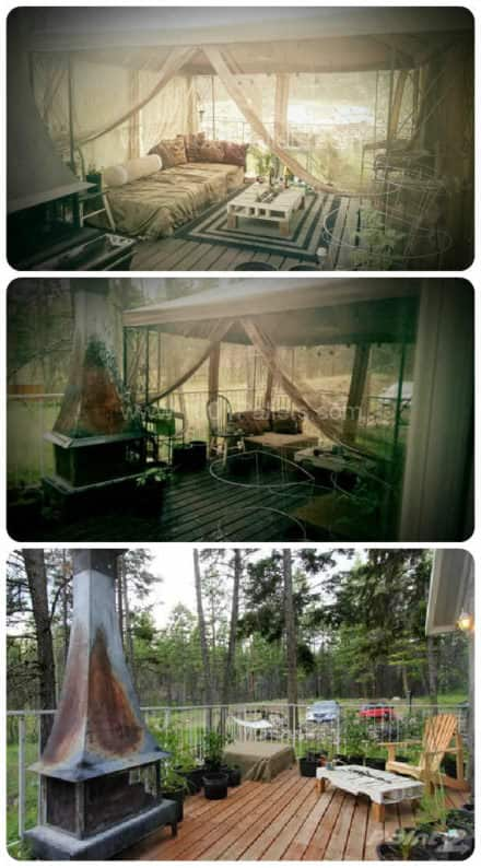 Pallet Terrace Transformed Into Outdoor Bohemian Palace