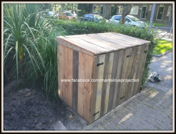 Pallet Wheelie Bin Cover Pallet Boxes & Chests