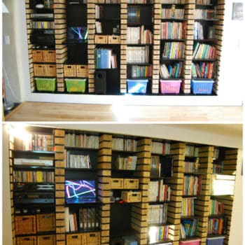Pallet Wood Upcycled Into Bookshelves