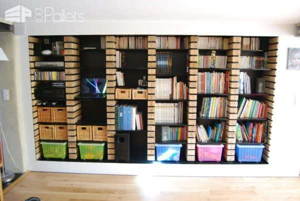 Pallet Wood Upcycled Into Bookshelves Pallet Bookcases & Pallet Bookshelves