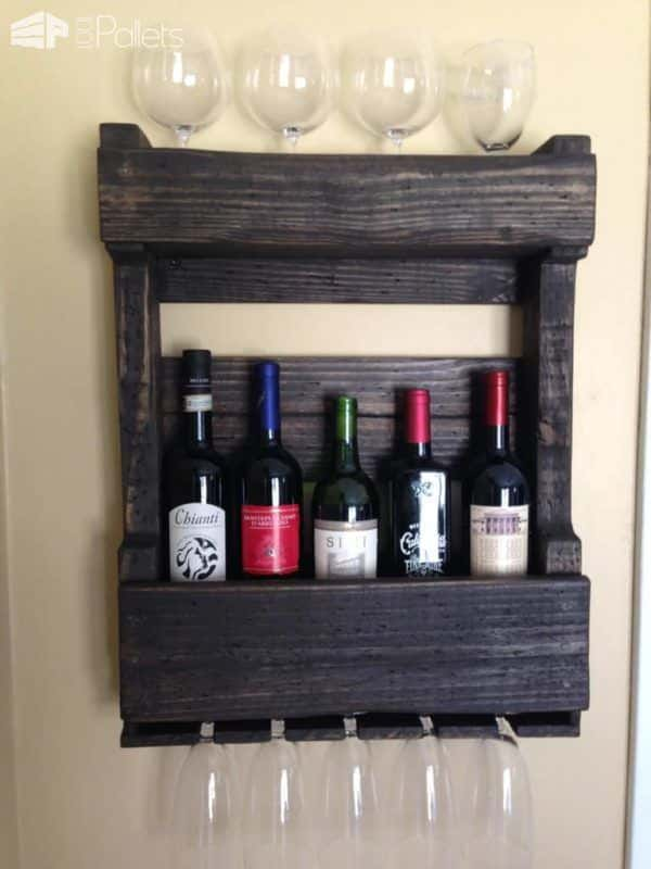 Pallets Wall Wine Rack Pallet Shelves & Pallet Coat Hangers