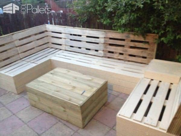 Pallet furniture images galleries for Meuble patio palette