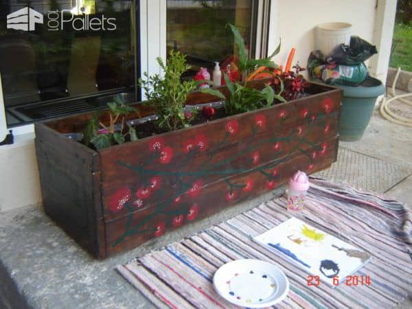 Planter Box From Recycled Pallets Pallet Planters & Compost Bins