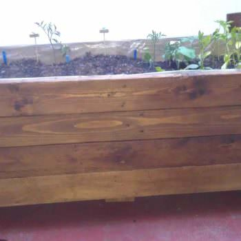 Planter Made Out Of Reclaimed Pallet
