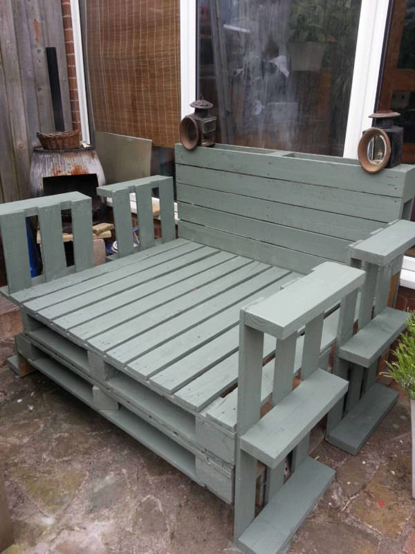 Recycled Pallet Lounger Pallet Benches, Pallet Chairs & Stools